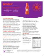 Nutraburst Facts Sheet